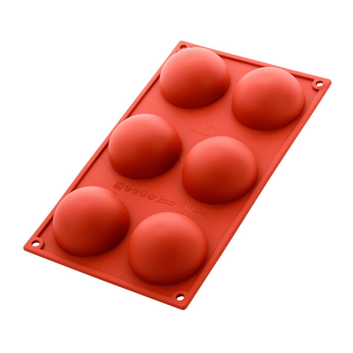 Moule en silicone 6 demi sphères - Alice Délice