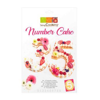 Achat en ligne Gabarits number cake - Scrapcooking