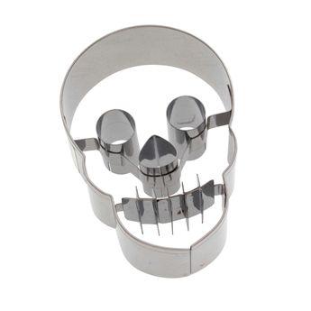 Achat en ligne Emporte-pièce en inox crâne Halloween 7 cm - Birkmann