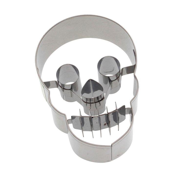 Emporte-pièce en inox crâne Halloween 7 cm - Birkmann