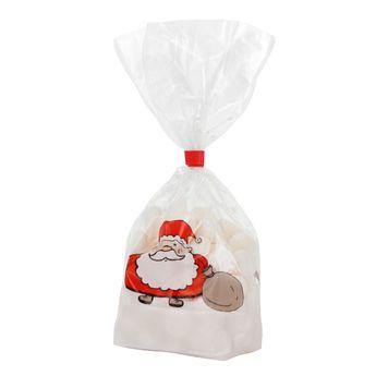 Achat en ligne 10 sachets confiseur avec clips Père Noël 11.5 x 19 cm - Zischka