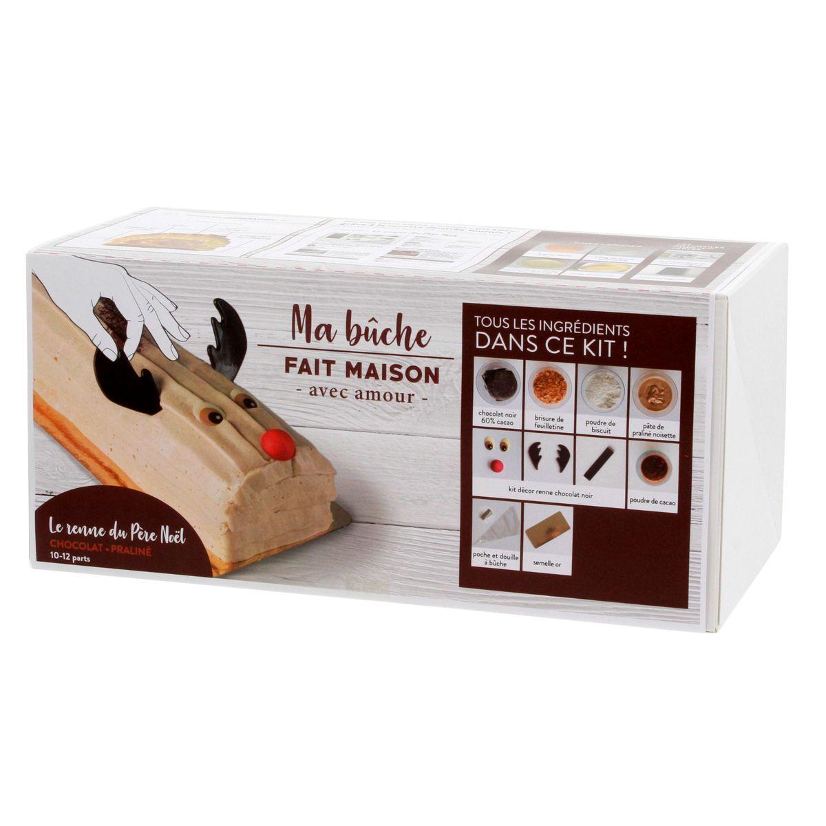 COFFRET INGREDIENTS BUCHE ROULEE CHOCOLAT PRALINE