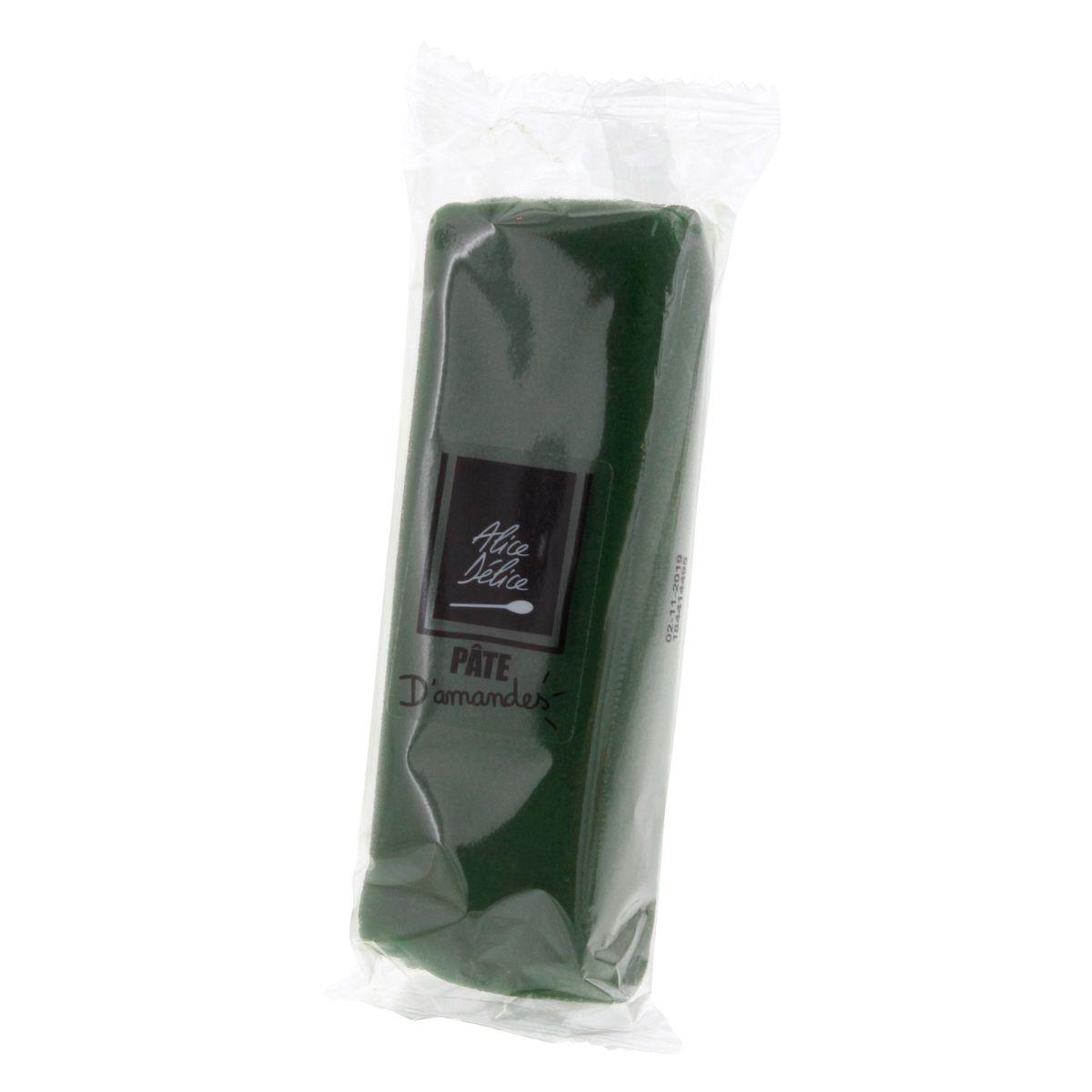 Pâte d´amande vert foncé 250g - Alice Délice