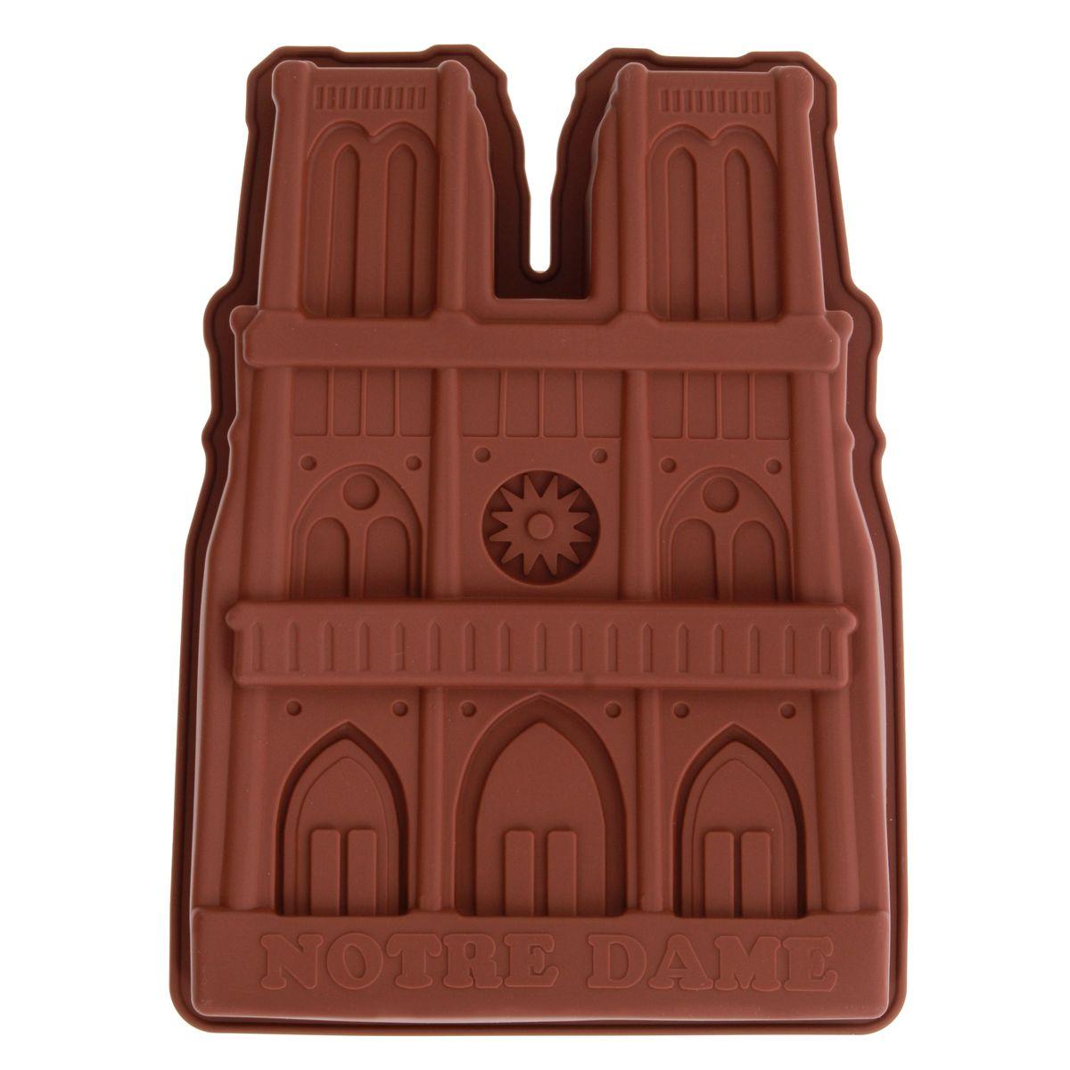 Moule gâteau en silicone marron Notre-Dame - Le Chef Paris