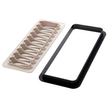 Achat en ligne Kit tarte rectangulaire nouvelle vague - Silikomart