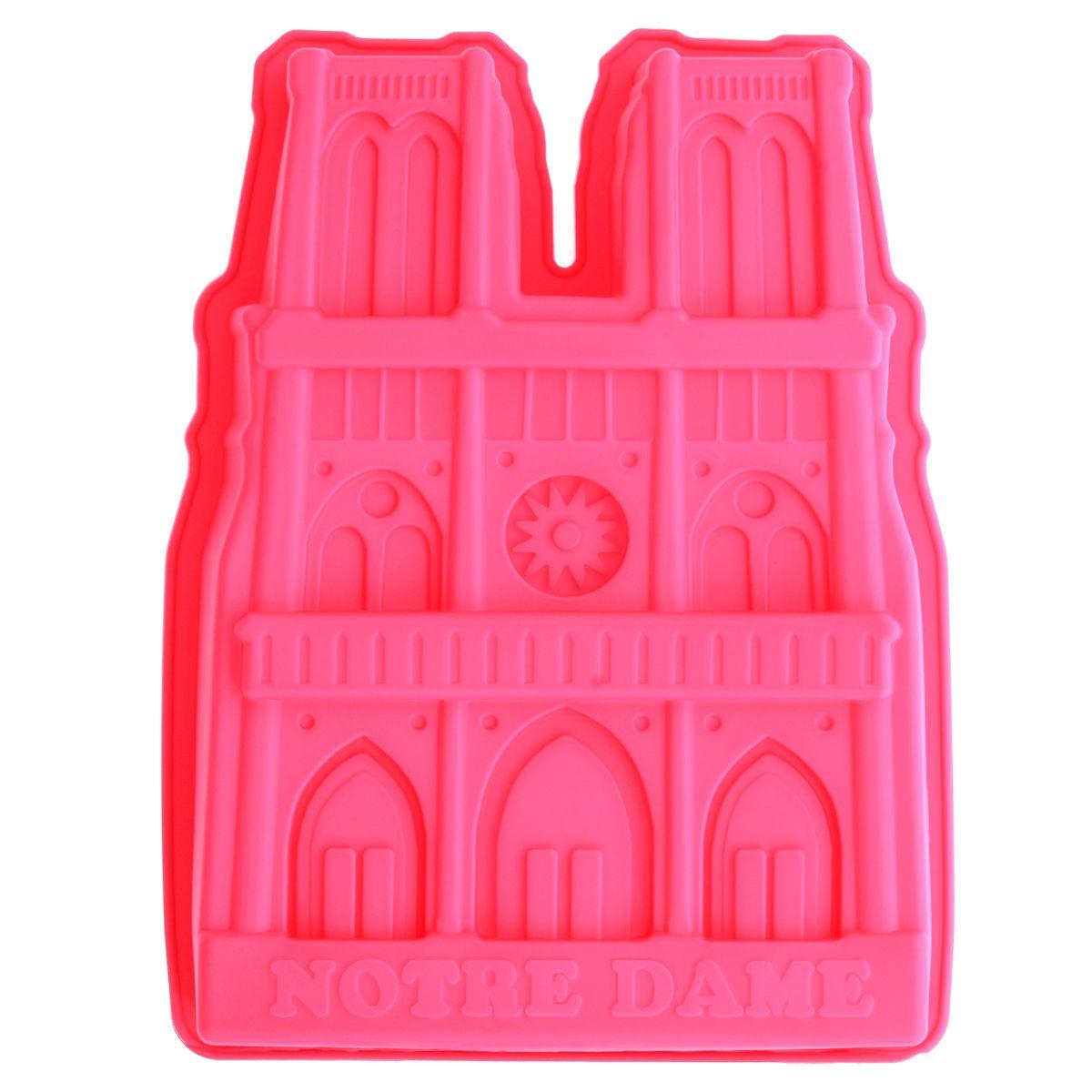 Moule gâteau en silicone rose Notre-Dame - Le Chef Paris