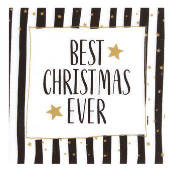 Best christmas ever 33x33 cm fsc - Ppd