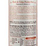 Huile de colza bio fruitée noix 250ml - La Tourangelle