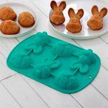 Moule en silicone lapins et œufs de Pâques 25.7x17.5 cm