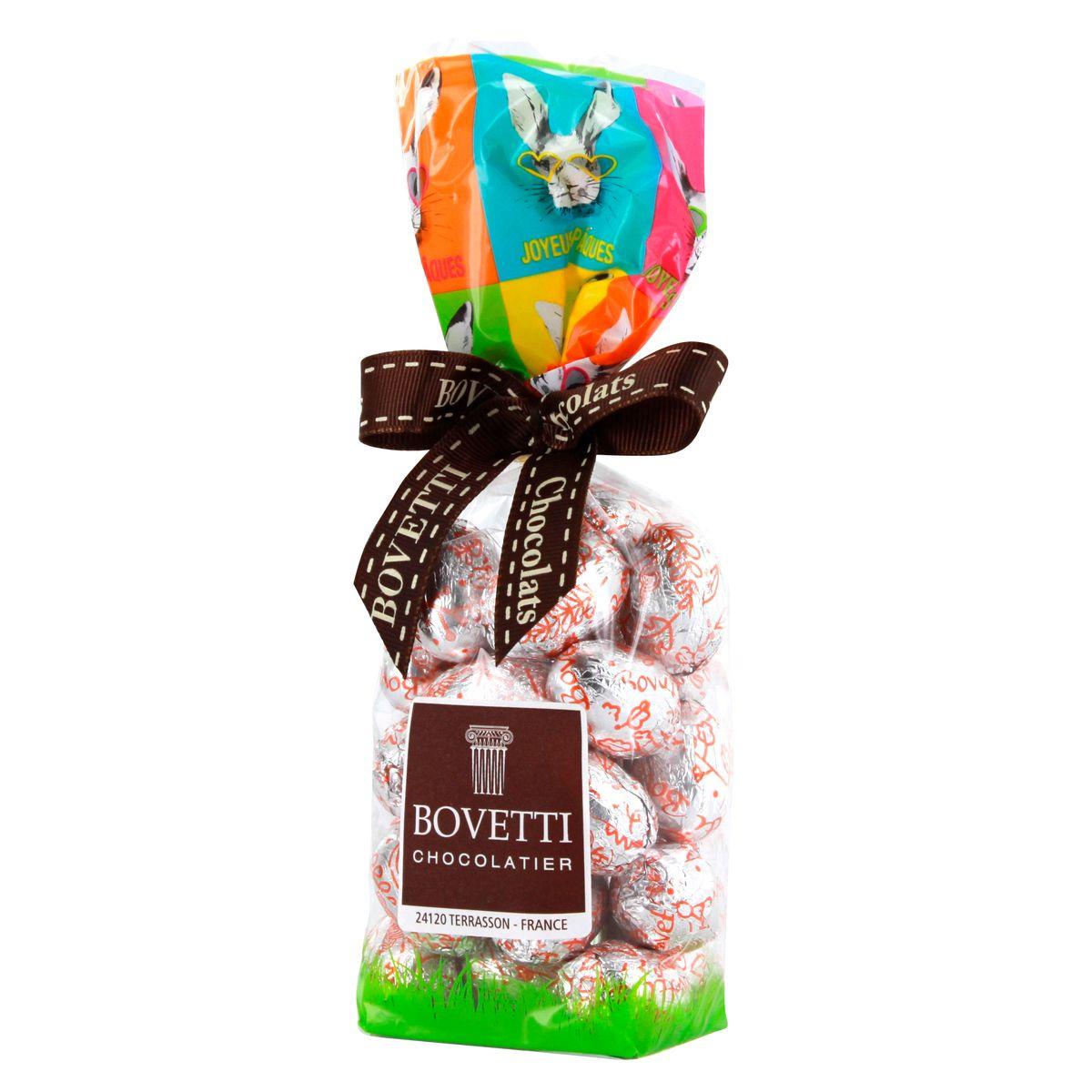 Petits œufs fourrés chocolat au lait caramel - Bovetti