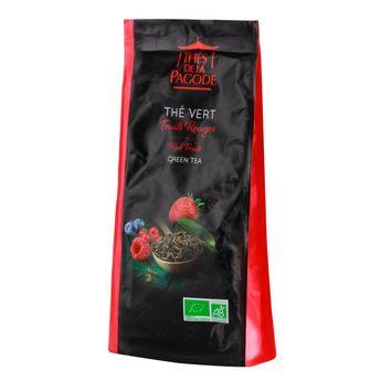 Achat en ligne Thé vert bio fruits rouges 100gr - Thés de la Pagode