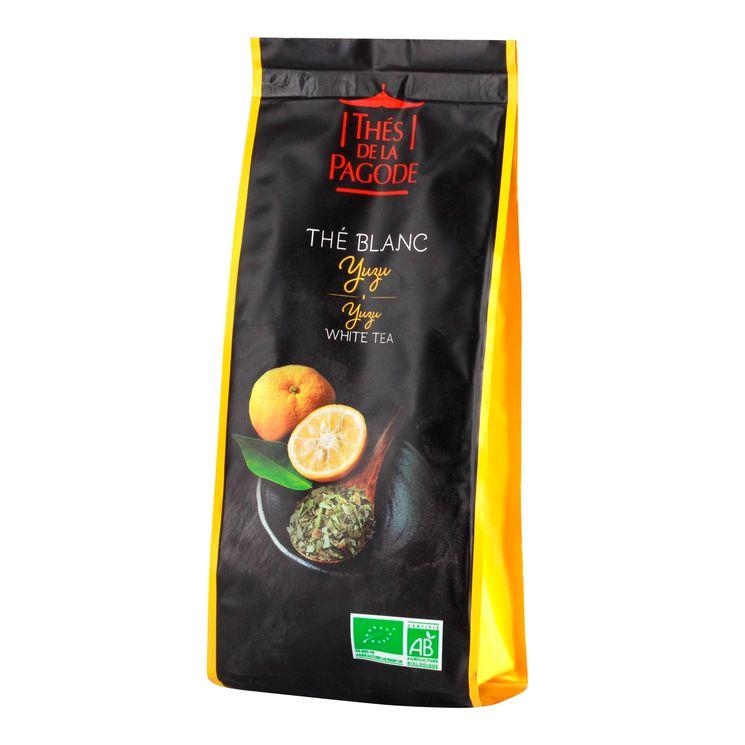 Thé blanc bio yuzu 100gr - Thés de la Pagode