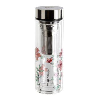 Achat en ligne Théière infuseur en verre fleurs roses Par´tea 350 ml - Yoko Design