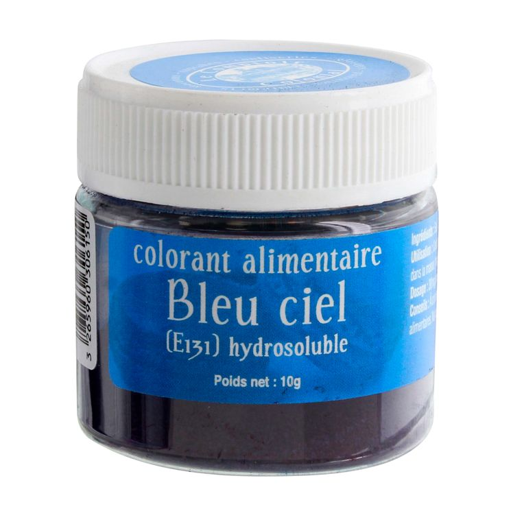Colorant alimentaire hydrosoluble bleu ciel 10 gr - Le Comptoir Colonial