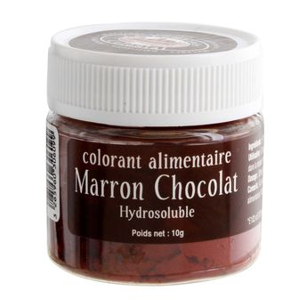 Achat en ligne Colorant alimentaire hydrosoluble marron chocolat 10 gr - Le Comptoir Colonial