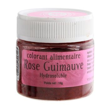 Colorant alimentaire hydrosoluble rose guimauve 10 gr - Le Comptoir Colonial