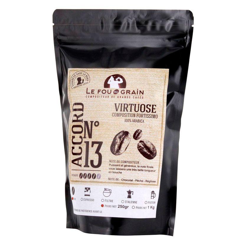 Café en grains 250gr Virtuose Accord n°13 - Le Fou du Grain