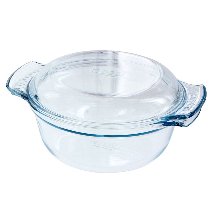 Cocotte en verre ronde 25x20 cm ( 1.5l+ couvercle 0.6l )- Pyrex