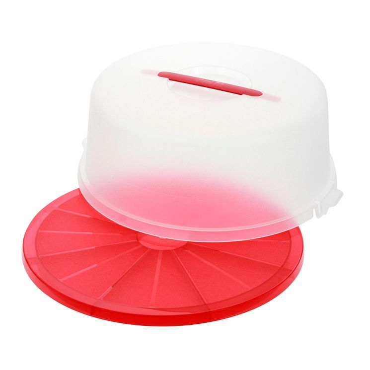 Boîte à gâteaux ronde rouge 33cm - Emsa
