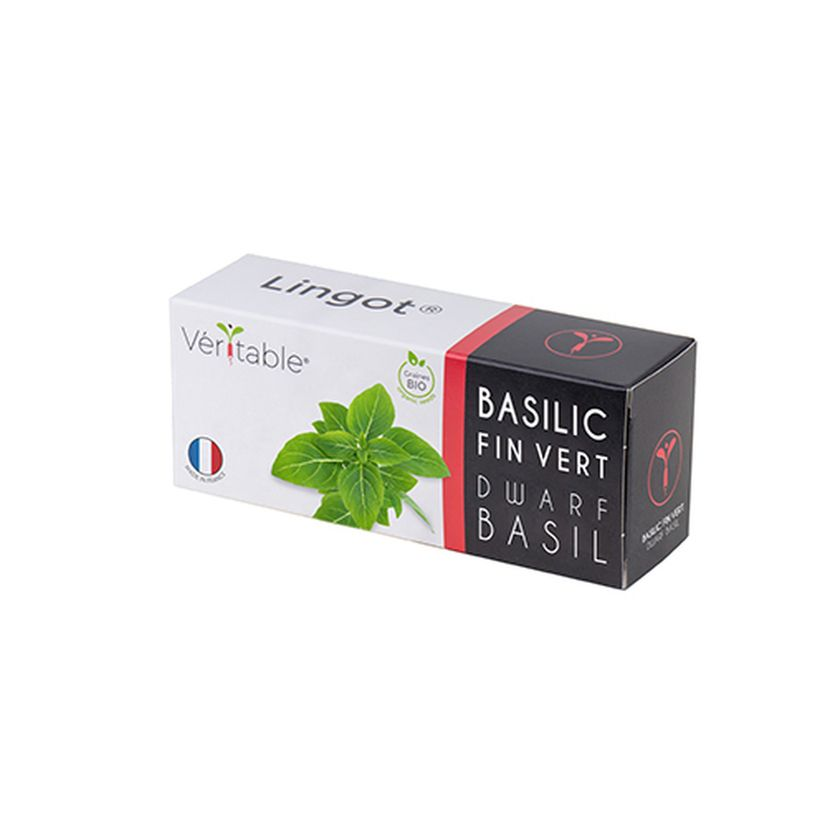 Recharge pour potager d´intérieur Véritable basilic fin vert nain bio - Véritable