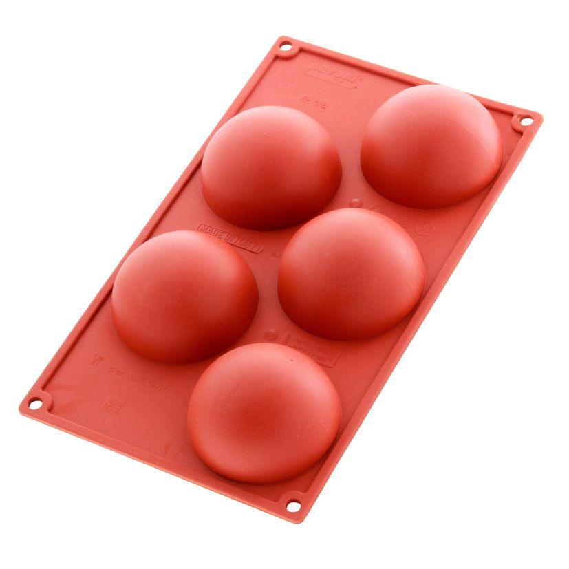Moule silicone 5 demi-sphères - Pavoni