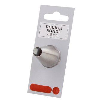Douille inox ronde 8 mm