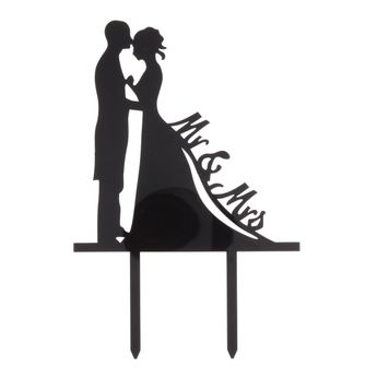 Décor gâteau cake topper Mr & Mrs - Patisdecor