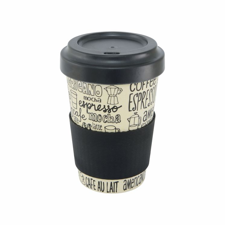 Mug nomade en fibre de bambou café 500ml - Point Virgule