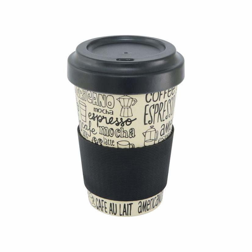 Mug nomade en fibre de bambou café 500ml - Point Virgule