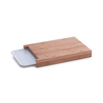 Planche à découper avec plateau, bambou / mélamine - Zeller