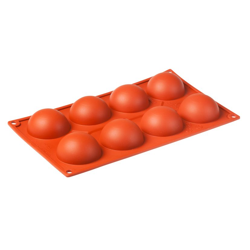 Moule silicone 8 demi-sphères - Pavoni