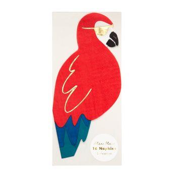 16 serviettes perroquet - Meri Meri