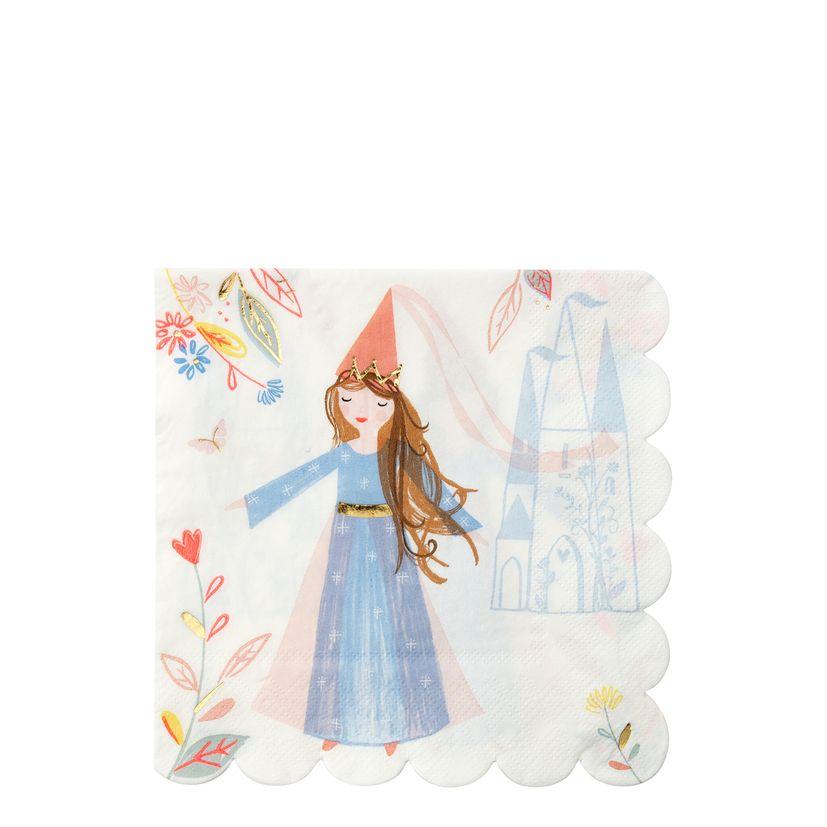 16 grandes serviettes princesse - Meri Meri