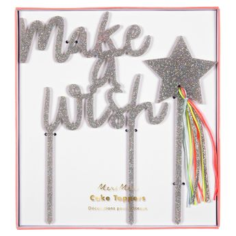 Achat en ligne Cake topper Make a Wish - Meri Meri