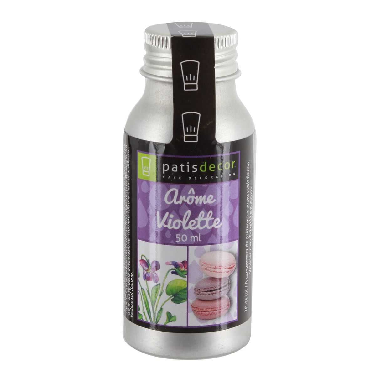 Arôme alimentaire naturel violette 50 ml - Patisdecor