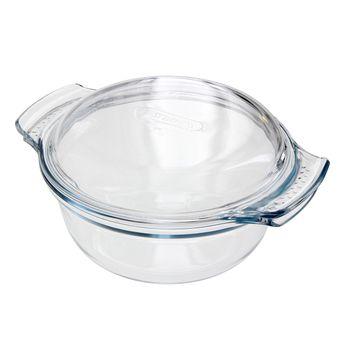 Cocotte en verre ronde 22x17cm ( 1l + couvercle 0,4l ) - Pyrex