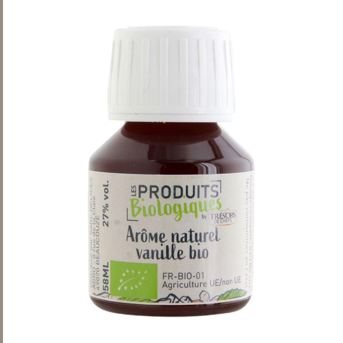 Arôme alimentaire bio vanille 58 ml - Trésors de Chefs