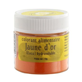 Colorant alimentaire hydrosoluble 10gr jaune or - Le Comptoir Colonial
