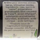 Arôme alimentaire bio fraise 58 ml - Trésors de Chefs