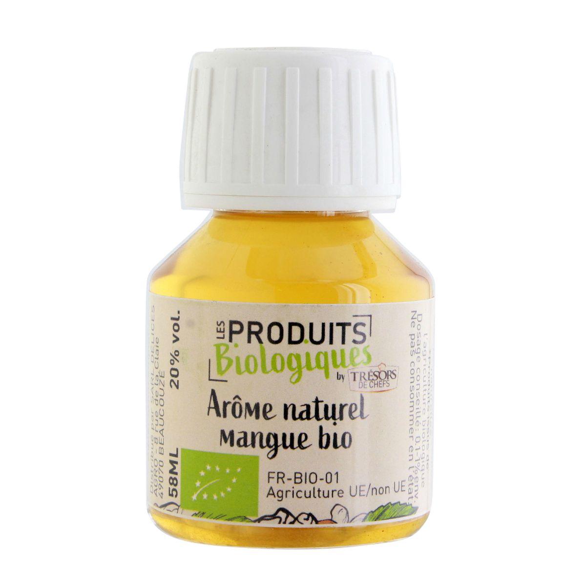 Arôme alimentaire bio mangue  58 ml - Trésors de Chefs