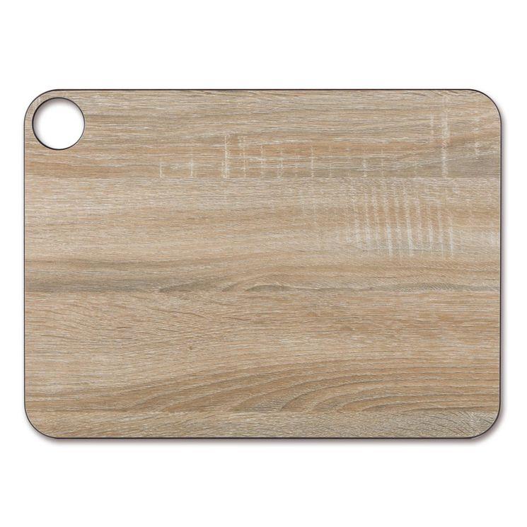 Planche à découper effet bois en papier compressé 37.7 x 27.7 cm - Arcos