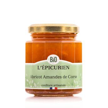 Achat en ligne Confiture bio abricot amandes de Corse 210 g - L´Epicurien