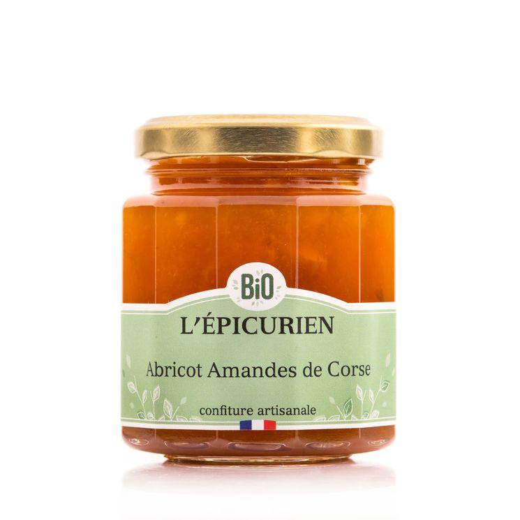Confiture bio abricot amandes de Corse - L´Epicurien