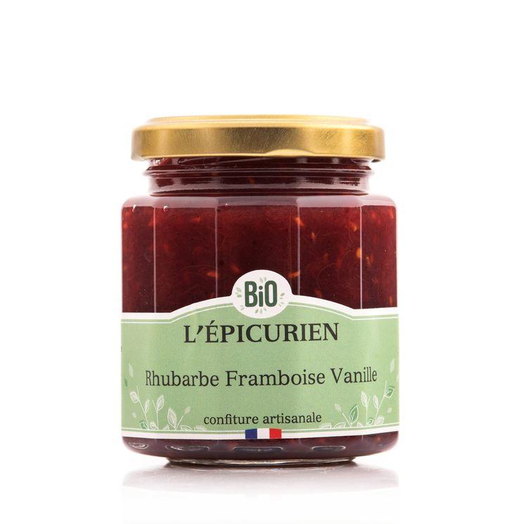 Confiture rhubarbe framboise vanille bio - L´Epicurien
