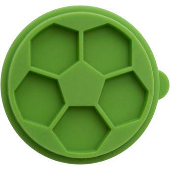 Tampon biscuit bois et silicone ballon de football 5 cm - Birkmann
