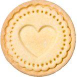Tampon biscuit bois et silicone coeur 7 cm - Birkmann