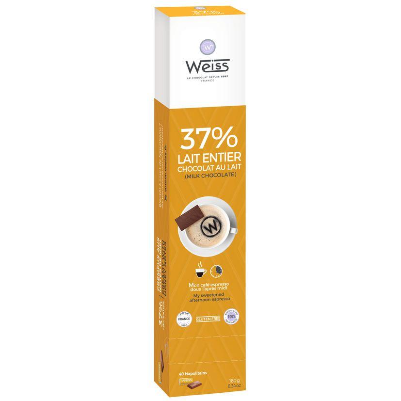 Lait 37% réglette chocaf 180g - Weiss