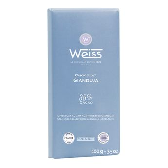 Tablette 100g gianduja 35% - Weiss