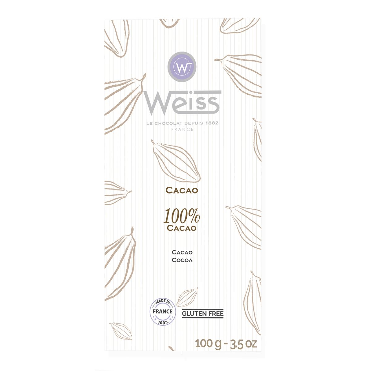 Tablette 100g 100% cacao plie - Weiss