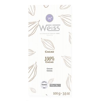 Tablette 100% cacao plie 100gr - Weiss